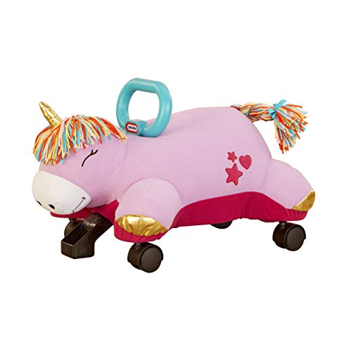 Little Tikes Unicorn Pillow Racer, Soft Plush Ride-On Toy for Kids Ages 1.5 Years and Up