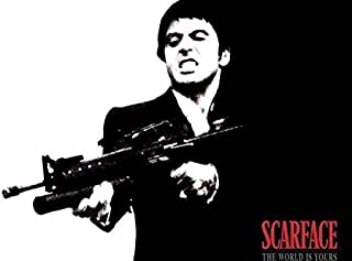 makeuseof size 24*36inch Al Pacino Scarface Classic Movie Art Silk Poster Bedroom Wall Decor