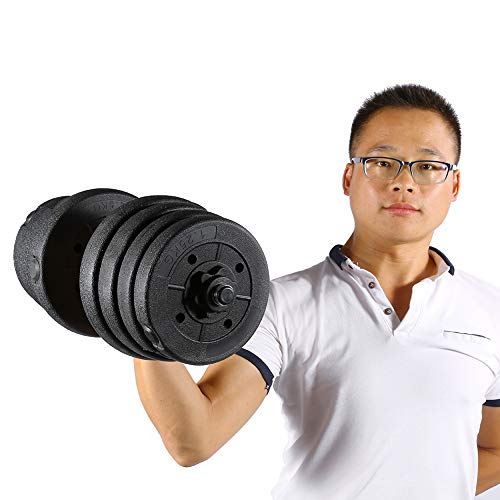 Adjustable Dumbbell, Safe Body Workout Exercise Equipment, Strength Training at Home Gym, Weight Dumbbell Set 66 LB Cap Gym Barbell Plates Body Workout