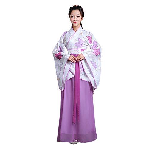 Xinvivion Hanfu Vestido para Mujer - Antiguo Estilo Chino