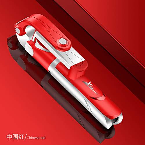 Leoie XT09 statief houder uittrekbaar 360 graden zelfontspanner Bluetooth selfie-stick monopod opvouwbaar Direct XT10 telefoonhouder, XT09 rouge