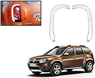 Auto Spare World Tail Lamp Chrome Cover for Renault Duster 2012-2017 Set of 2 Pcs.