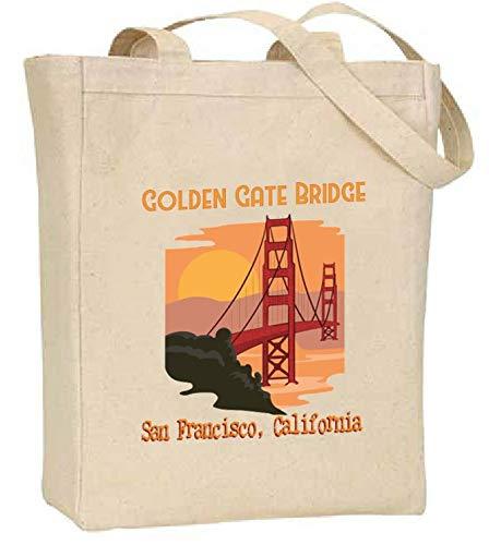 Golden Gate Bridge Souvenir Tote Bag from San Francisco California