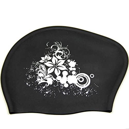 JWDS Gorro de natación Gorra De Natación para Cabello Largo para Mujer Gorras De Baño A Prueba De Agua para Mujer Sombrero De La Campana De Buceo