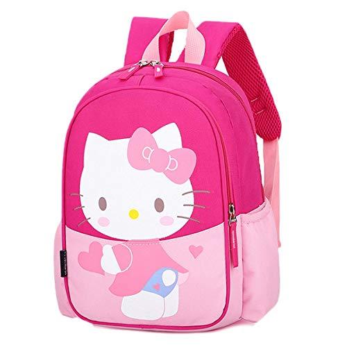 Mochila para niños con diseño de cerdito, Hello Kitty-rosa