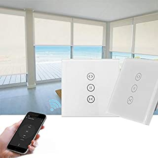 SM-SW101-C Wifi Smart Touch Curtain Wwitch Voice Control by Alexa and Google Phone Control For Electric Curtain Motor High...