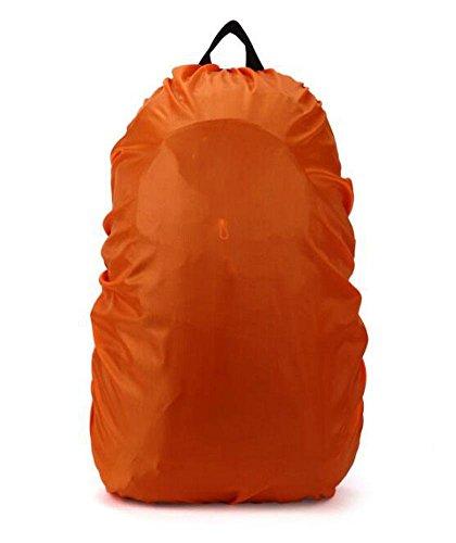 Demarkt–Mochila revestimiento impermeable lluvia protección mochila Cover Lluvia Fundas Protector de lluvia para camping senderismo, nailon, naranja, (60L) DE