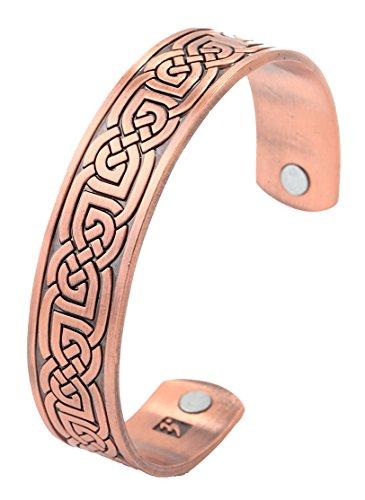 Antikes Kupfer-Magnettherapie-Armband, keltischer Knoten, Armreif, Geschenk, Schmuck für Damen/Herren