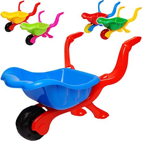 alles-meine.de GmbH 2 Stück _ kleine Kinder _ Kunststoff Schubkarren - Farb-Mix - ab 1 Jahr - extrem stabil - mit Plastik Reifen & Kunststoffwanne - Kinderschubkarre - Gartenschu..