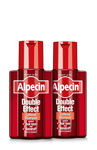Alpecin Double Effect 2x 200ml | Anti Dandruff and Natural Hair Growth Shampoo | Energizer for...
