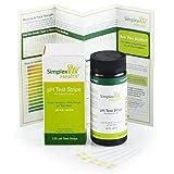 Tiras de prueba de pH 4.5–9.0para orina y saliva. Tiras de prueba de ácido alcalino de SimplexHealth (125 unidades) Mejor que el papel de tornasol.