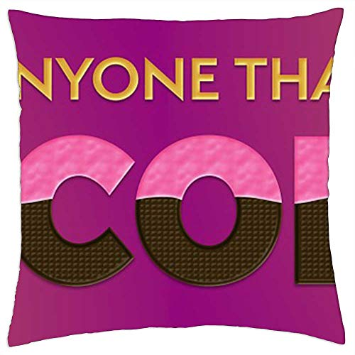 LESGAULEST Throw Pillow Cover (24x24 inch) - Love Chocolate Quote Saying Design Header Banner