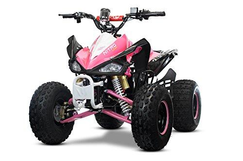 "XXL Eco Speedy 8"" 1000W 48V Quad Elektroquad Midiquad Atv Kinderquad Midi (Pink)"