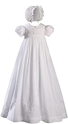 Little Things Mean A Lot Helena Cotton Christening Gown Size 0-3 Month White