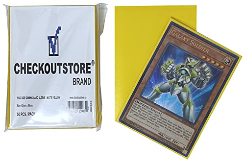 CheckOutStore 10,000 Matte Yellow Protective Sleeves Yu-Gi-Oh, Cardfight Vanguard (62 x 89 mm)