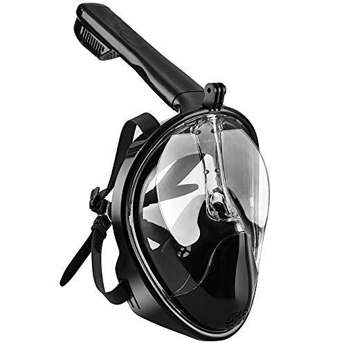 Comfortabel duikmasker snorkelen vol masker volledig droge snorkel zwembril duikuitrusting voor volwassenen volgelaats snorkelmasker S/M