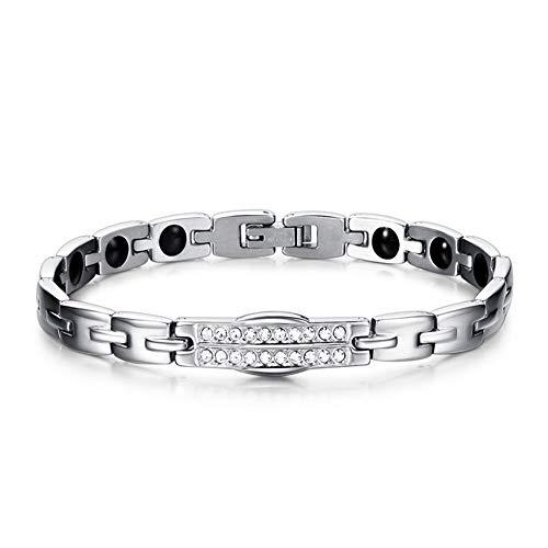 YDMSGSB Antistatisches Armband aus Titan-Stahlarmband Herren- und Damenarmband Energy Titanarmband, K31