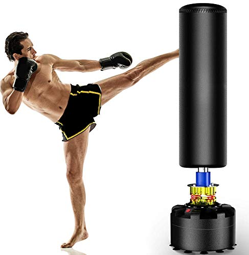 The Power Freestanding Punching Bag, 69''-182lb Heavy Bag with Durable Suction Base - Free Stand Punch Bag for Adult Youth, Kickboxing Bags, Standing Heavy Punching Bag