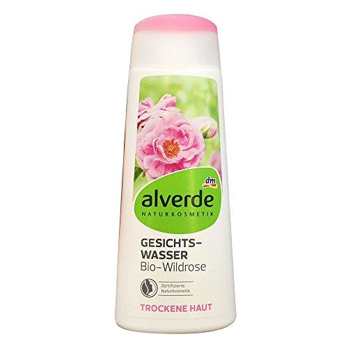 alverde Gesichtswasser Wildrose für trockene Haut (200ml Flasche)
