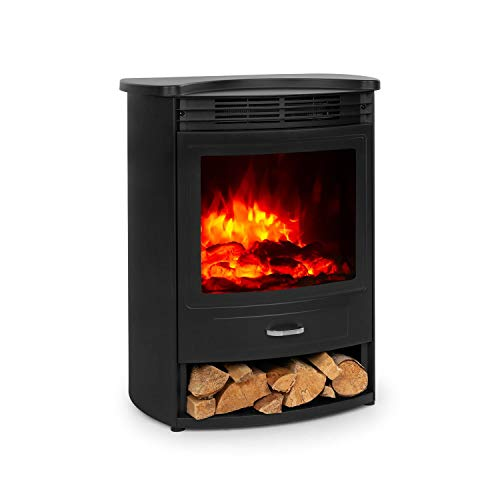 Klarstein Bormio - Electric Fireplace, 2 Heat Settings: 950/1900 W, Thermostat,...