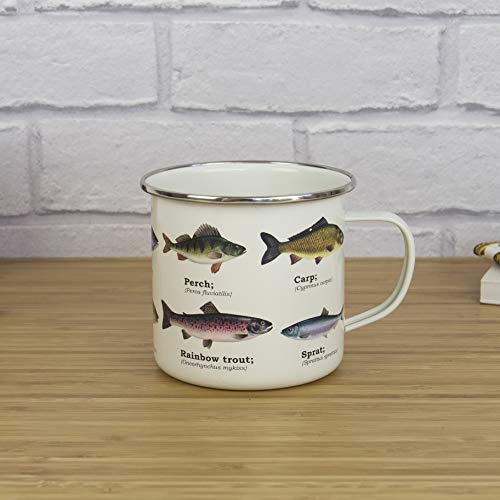 Ecologie Multi Species Fish Kaffeebecher emailliert mit Fisch-Motiven