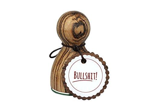 orig. Stemplino® Maxistempel Stempel L - Bullshit - hochwertiger Holzstempel Motivstempel Holz