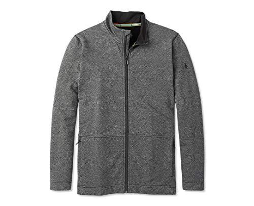 Smartwool Men's Full Zip Jacket - Merino Sport Wool Fleece Outerwear Charcoal Heather Medium