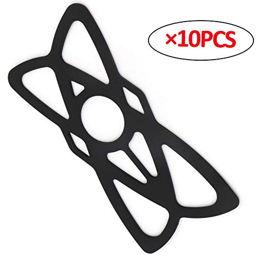 iMESTOU 10PCS Security Rubber Bands Silicone Replacement Straps for Motorcycle Phone Holders Bike/Bicycle Handlebar Cellphone Mounts (10PCS)
