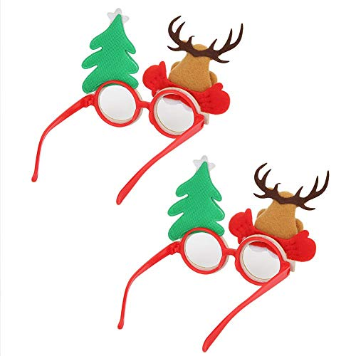クリスマスのテーマキッズメガネ、サンタクロースメガネフレーム、装飾用クリスマスクリスマスオーナメントコスプレ小道具(deer)