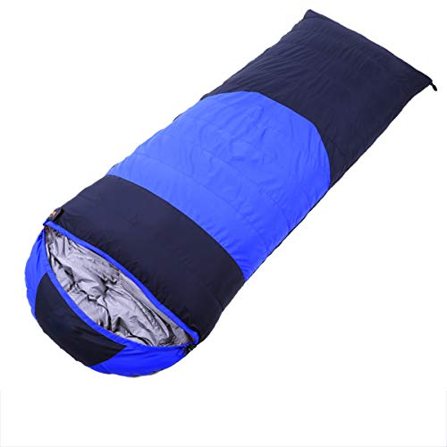 Ultralight Camping Warm Down Sleeping Bag, Portable Thickened Single Sleeping Bag with Storage Bag for Indoor Outdoor Traveling Hiking,Blue,1.5kg