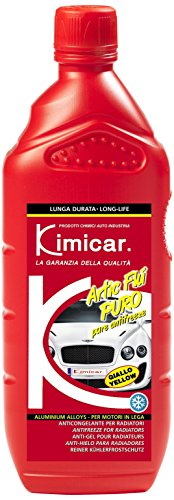 Kimicar 005G100 Artic Flu Puro Liquido Antigelo per Radiatori, 1 lt, Giallo, Set di 1
