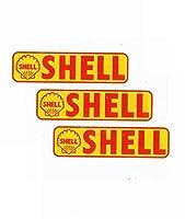 【3枚セット】レーシングステッカー アメリカンステッカー SHELL シェル