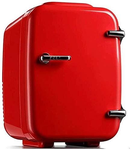 LCSD Mini Nevera Waw 4L silencioso Caliente y frío de energía Dual del Coche Mini refrigerador pequeño Dormitorio Principal Coche de Doble Uso del Coche Refrigerador portátil de Mesa Mini