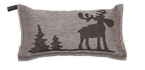 JOKIPIIN | Saunakissen und Reisekissen ELCH, Leinen natur/schwarz, made in Finland