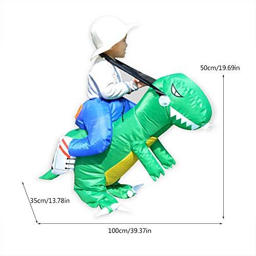 Zerodis- Costume da Dinosauro Gonfiabile, Simulazione Camminata dei Dinosauri Abiti Divertente Bambino Halloween Puntelli di CosplayAccessori del Festival con Hat Regalo per Bambini