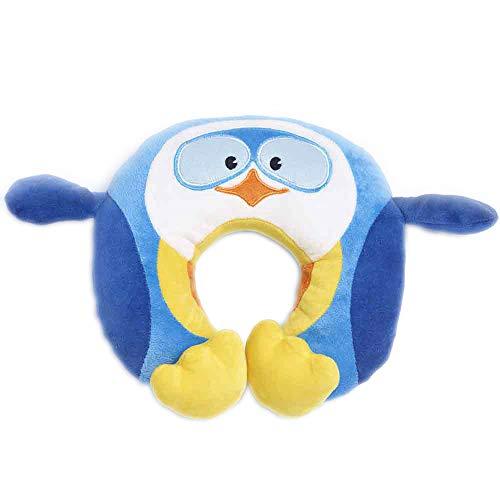 Travel Blue Kinder-Nackenkissen 281 Puffy der Pinguin Reisekissen Flauschiges Reisezubehör für den perfekten Schlaf bequem & erholsam in den Urlaub