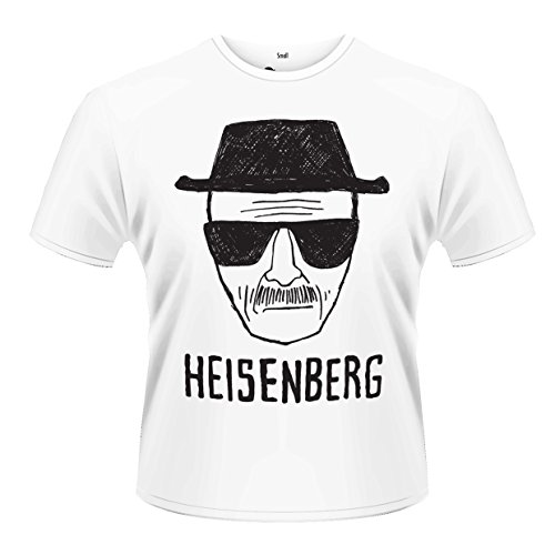 Playlogic International(World) Breaking Bad Heisenberg Sketch T-Shirt, Bianco (Weiß - Weiß), XL Uomo