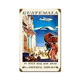 ABLERTRADE DHArt Metal Tin Sign Guatemala Imperial Airways