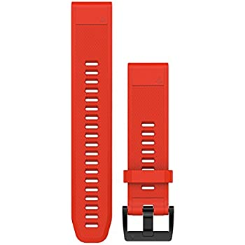 Garmin QuickFit 22 Silicone Band, Flame Red