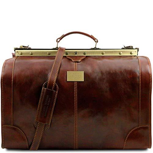Tuscany Leather - Madrid - Maleta de Viaje en Piel - Modelo Grande Marrón - TL1022/1