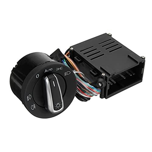 YYAN Interruptor de la lámpara de la luz del Sensor del Sensor de la luz Delantero automático del automóvil + Módulo de Control Ajuste para el transportador Multivan Fit para Jetta MK4