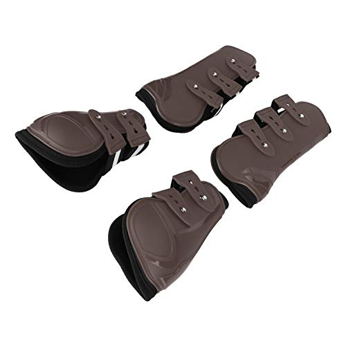 Cosiki Thickened Horse Legguard, Horse Leg Protector, Heavy‑Duty Lightweight Horse Leg for Horse(Set of Brown, Extra Large)