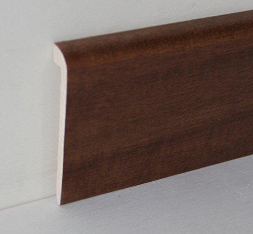 Hobby Legno - Coprimarmo Rivestito In Legno Di Tanganica Tinto Noce Medio mm. 100X20X2400 (Prezzo Per ml. 4, 80)