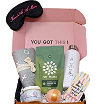 Milky Chic Gift Box for New Moms- 6 Unique Postpartum Personal Care Items for Mothers-Mommy's Pampering Surprise Basket - After-Pregnancy Must-Haves for Mom (Medium)
