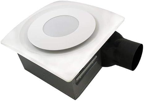 Aero Pure Ap90 Sl W Slim Fit Bathroom Fan With 10w Led 3000k Light White Finish Amazon Com