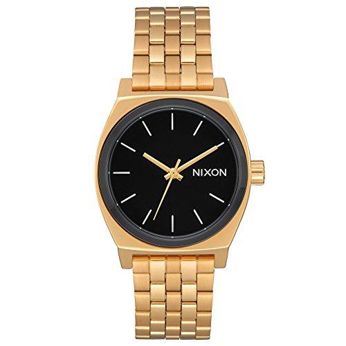 Nixon - Medium Time Teller 31mm Gold / Black / White - Orologi Femme