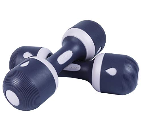 Nice C Adjustable Dumbbell Weight Pair, 5-in-1 Weight Options, Non-Slip Neoprene Hand, All-Purpose, Home, Gym, Office (11.2 lbs, Black Purple Pair)