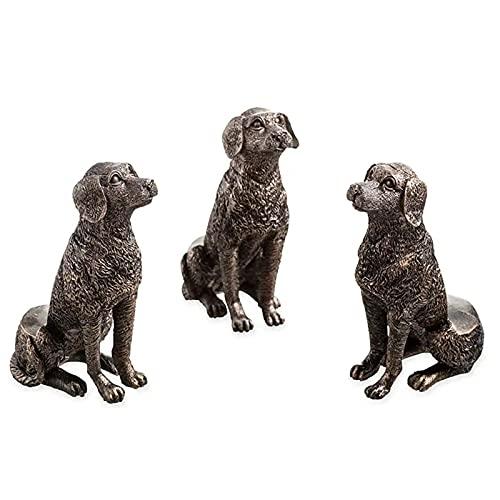 Qagazine 3pcs orinal Pies labrador perro/gato/conejo estatua maceta maceta pie soporte hecho a mano adornos decorativos divertido jardín patio decoración
