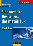 Aide-mémoire de résistance des matériaux - 9ème édition
