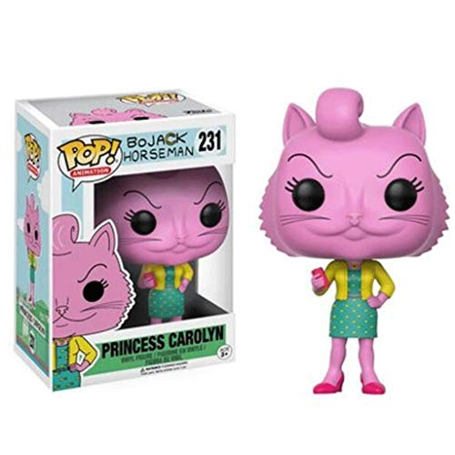 MXD Las Figuras Pop Bojack Horseman: Anime: Princesa Carolyn Figura muñeca de Vinilo Adornos de decoración Colección 10cm